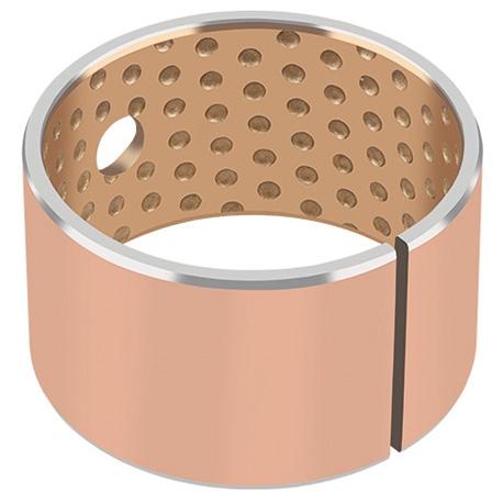 La surface de glissement des paliers lisses GGB-SZ est composéed'un alliage en étain, bismuth et bronze, frittée sur un