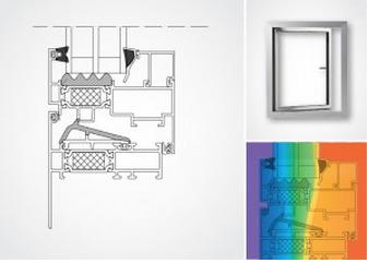 Aluminiumfönster IF79-HI med bruten köldbrygga