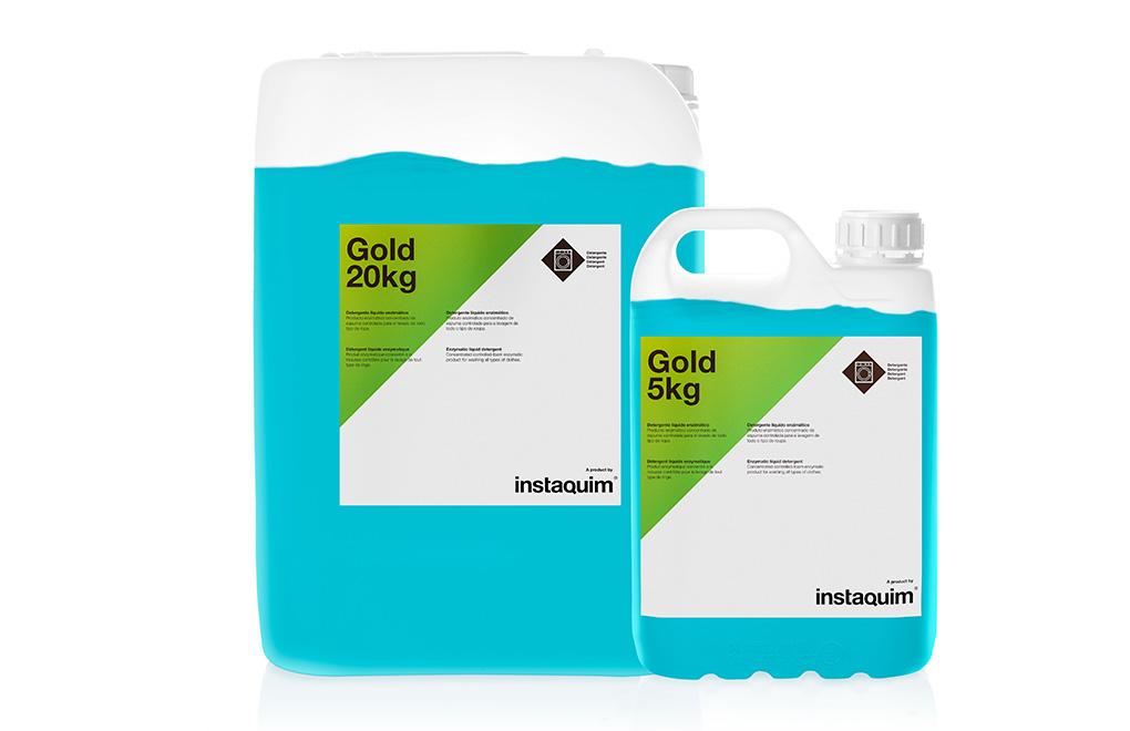 Gold, detergente líquido enzimático.