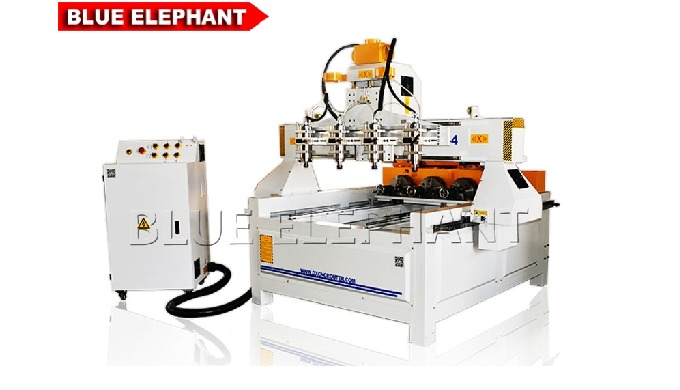 ELECNC-0809 Multi-head 4 axis CNC Router