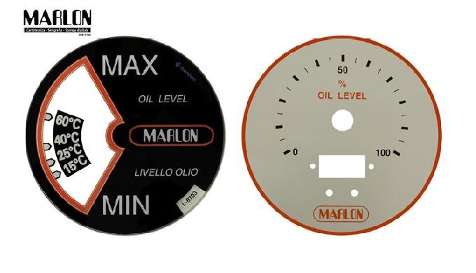 Stampiano in serigrafia su dischi macchina in vetro, materiale plastico o metallo. Garantiamo esperienza e professionali