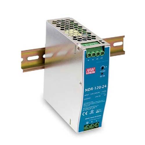 Eignung: Die NDR-75- und NDR120-Serien sind wirtschaftlich schlanke 75 W / 120 W DIN-Schienen-Schaltnetzteile, welche au
