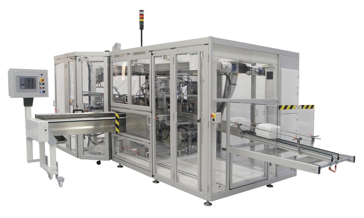 Voll integrierte Zähl-, Stapel- und Verpackungsmaschine für maximale Prozesskontrolle und Bedienbarkeit. Die Verpackungs