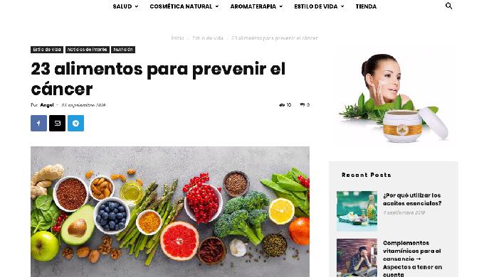 23 alimentos para prevenir el cáncer