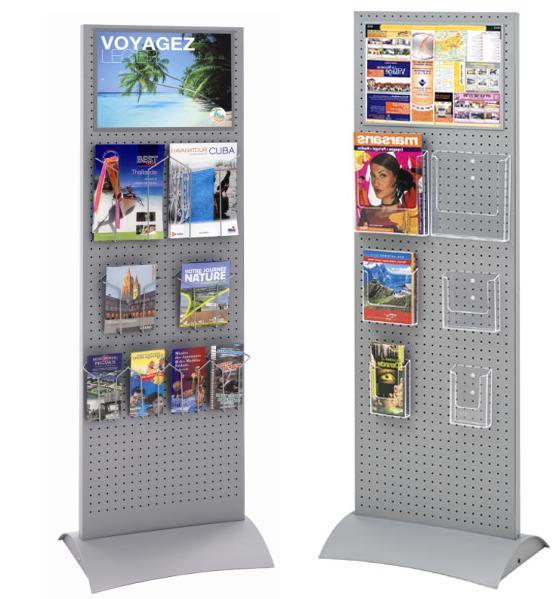 TOTEM-EXPO® H 165 X L 50 CM PRÉSENTOIR MULTIFONCTIONS