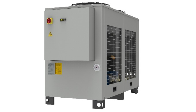Liquid chiller with horizontal structure, available in two versions: WLA R407C single circuit air condensed WLA R410A do
