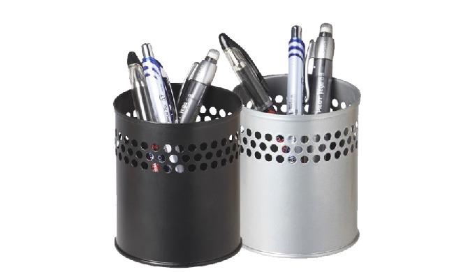 Design élégant en métal laqué de qualité  Il trouve sa place sur toute surface de bureau, de comptoir etc… 2 couleurs :