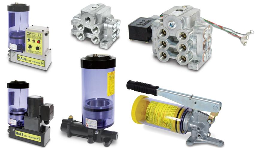 A grease lubricating system for a wide range of use including large machine tools, steel manufacture equipments, casters
