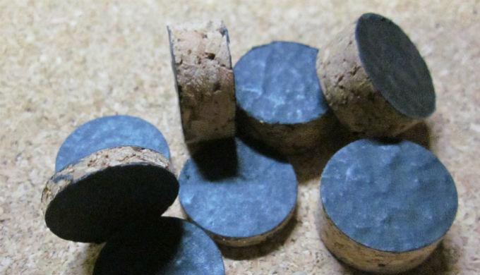Rondelles de Garnissage Liège Recouvert Papier noir Calibres 12-16-20