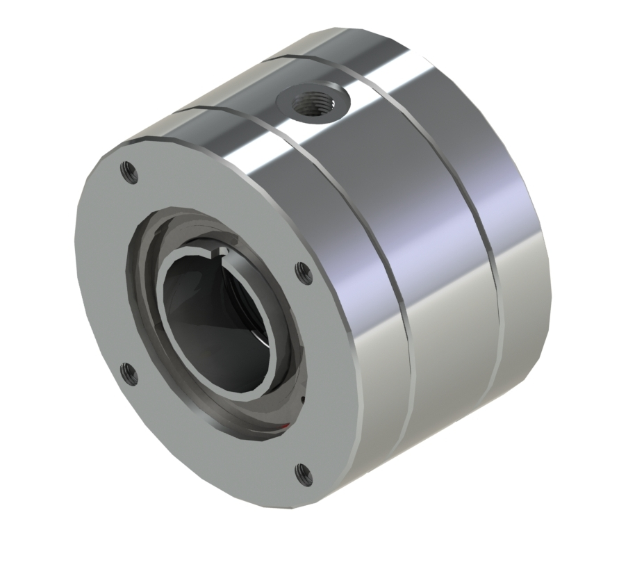 Multiport rotating joints 1-2 passages for around the shaft mounting Product characteristics: around the shaft mounting