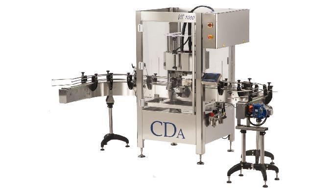 Conçue par CDA, la visseuse VS 1000 permet de boucher par vissage automatique tout type de bouchons (dont les bouchons à