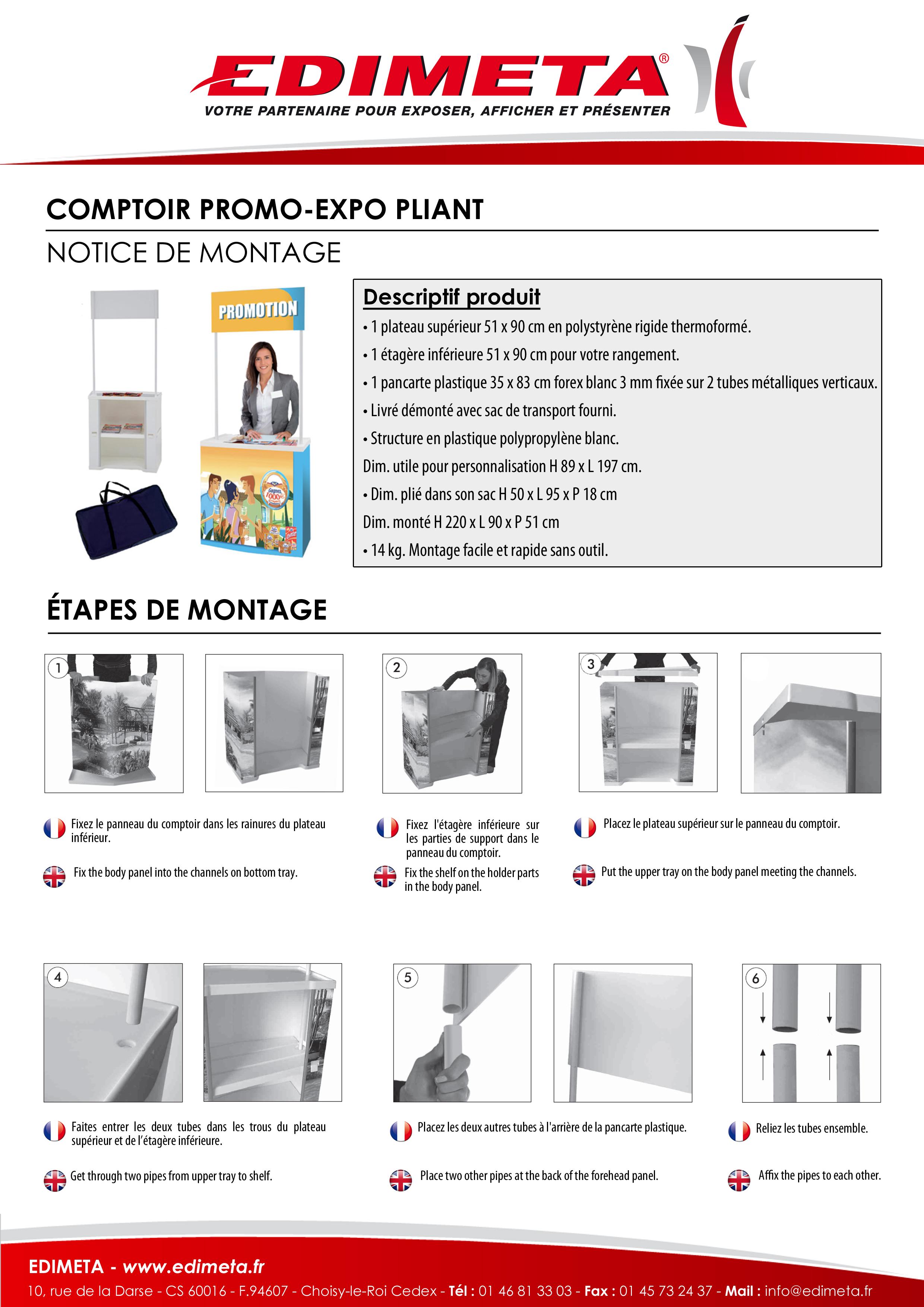 NOTICE DE MONTAGE : COMPTOIR PROMO EXPO PLIANT