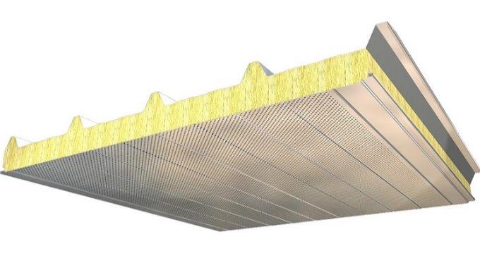 Isolamento acústico até 41 dB com painéis de cobertura de 5 ondas, Paneles ACH (P5G)