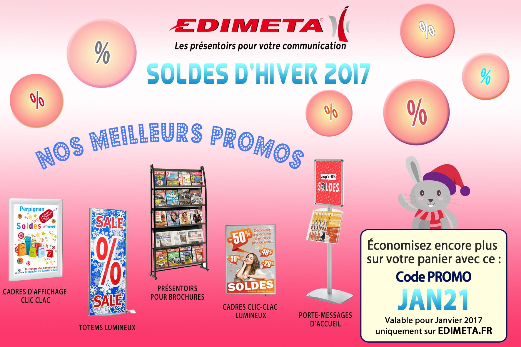 EDIMETA - Code promo pour Janvier 2017