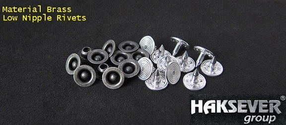 A Jeans Rivet is commonly used as a method of pocket reinforcement for denim trousers, also as a means of decoration on