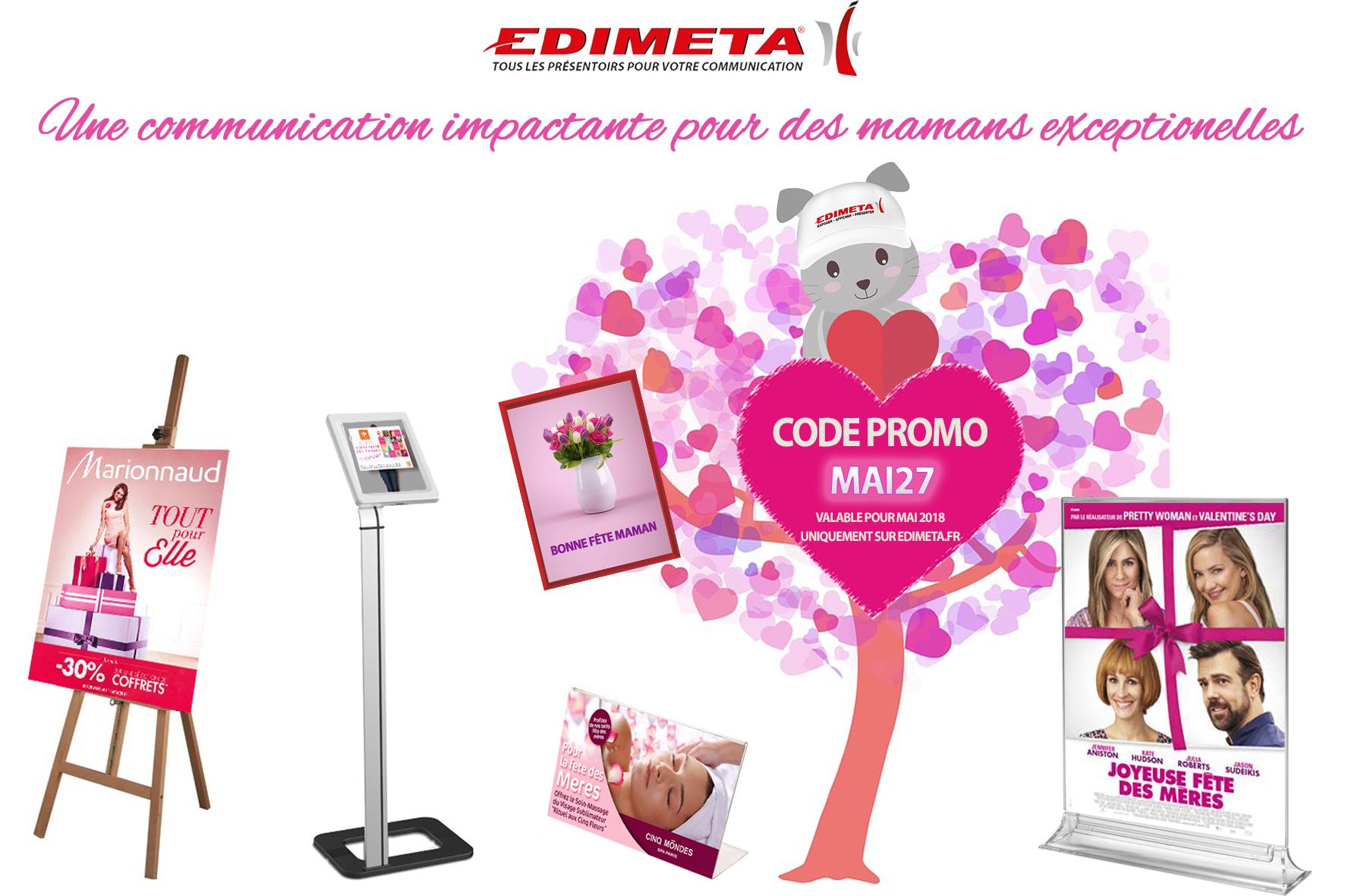 EDIMETA – Mettez en avant la fête des mères dans vos boutiques !