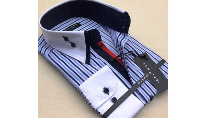 Production de chemises-hommes deux coll avec doublure