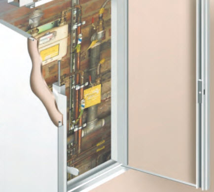 PANELCRAFT ACCESS PANELS have developed the FIREPAN MAGNA RANGE these are double door panels to complement the Firepan R