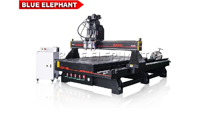 Features: 1. With heavy duty frame and gantry&#x3b; the machine was designed for durable. 2. Like another kinds of 1530 4 Axi