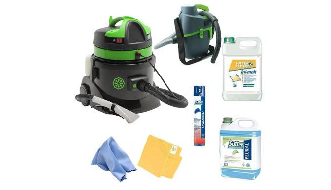 Kit matériels et produits nécessaires et suffisants pour nettoyer au mieux l'intérieur de votre véhicule. Ce kit compren