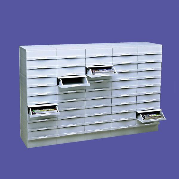 Classez vos dossiers en bon ordre avec une grande capacité ! Pour vos bureaux,centres de documention. 50 boîtiers tiroi