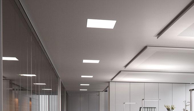 • LED-Einbauleuchte für die Arbeits- und Raumbeleuchtung in besonders flacher Bauform, für eine effiziente Beleuchtung •