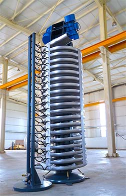 Tremor® Vibrating Spiral Conveyorsare designed to convey bulk materials such as granules with various sizes and densiti