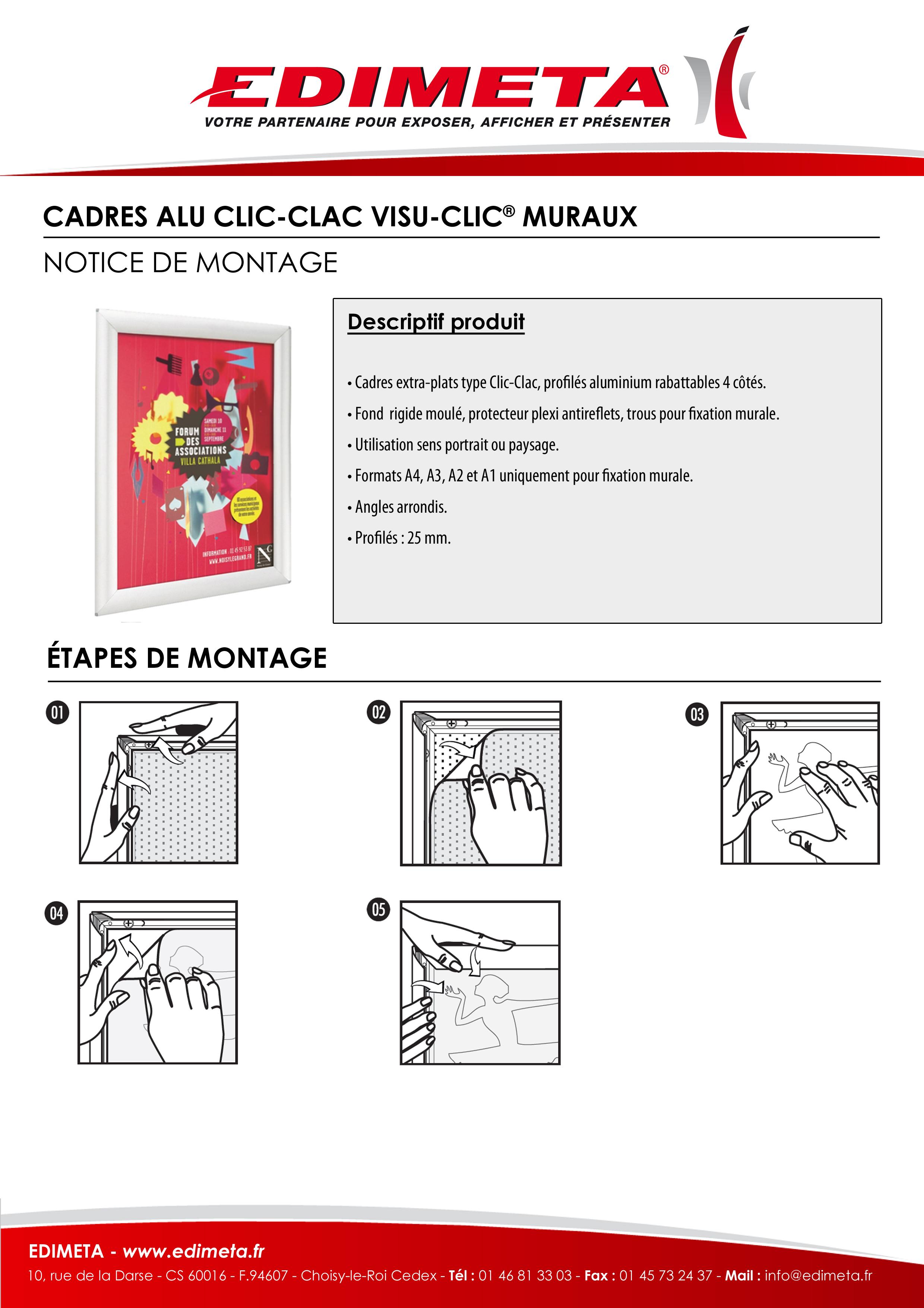 NOTICE DE MONTAGE : CADRE ALU CLIC CLAC VISU-CLIC® MURAUX
