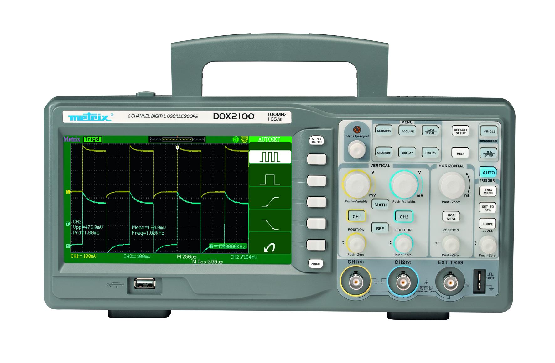Très simple à utiliser, compacte et surtout très économique, la nouvelle gamme d'oscilloscopes DOX de la marque Metrix a