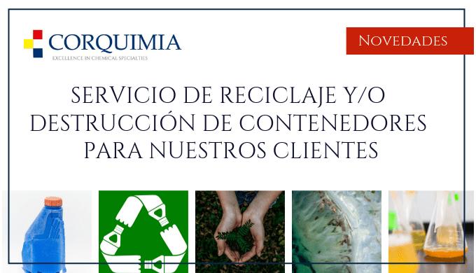 Reciclaje de contenedores para nuestros clientes