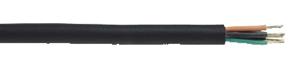 Anslutningsledning med isolering och mantel av EPR-gummi. Ledare av förtent Cu. Får användas inom- och utomhus. Används