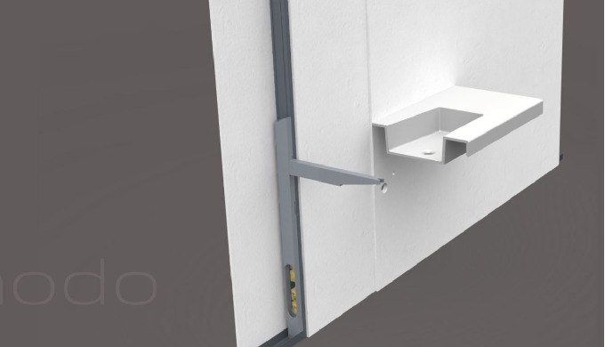 Heavy, long wash basins to plasterboard walls mount – is it possible? With the maanodo® TECH is it very easy.