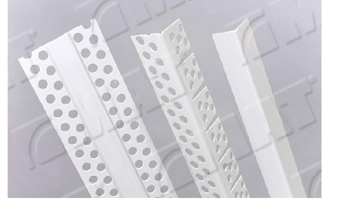 Plastic profiles for plasterboard