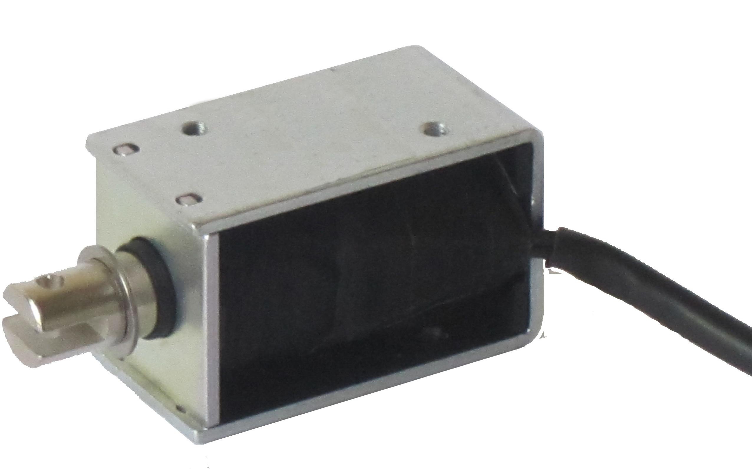 Électro-aimants actionneurs de manœuvre simple ou simple effet, équipés d'une bobine et d'un noyau mobile. Lorsque la b