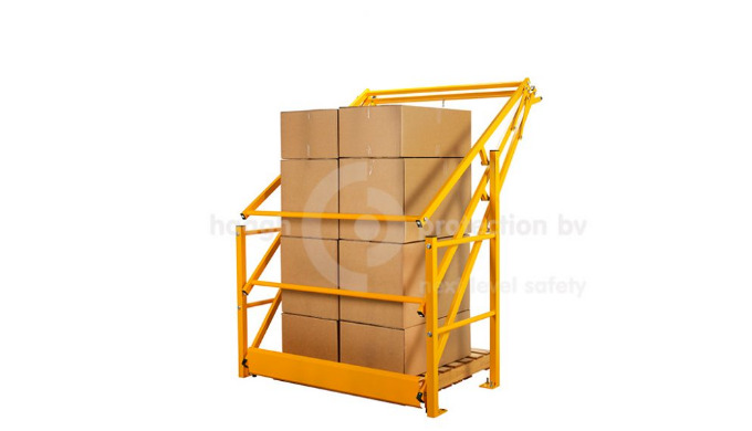 A VARIOGATE® safety gate /cantilever gate : the moveable type safety gate lifts goods up-and-over. Suitable for a maximu