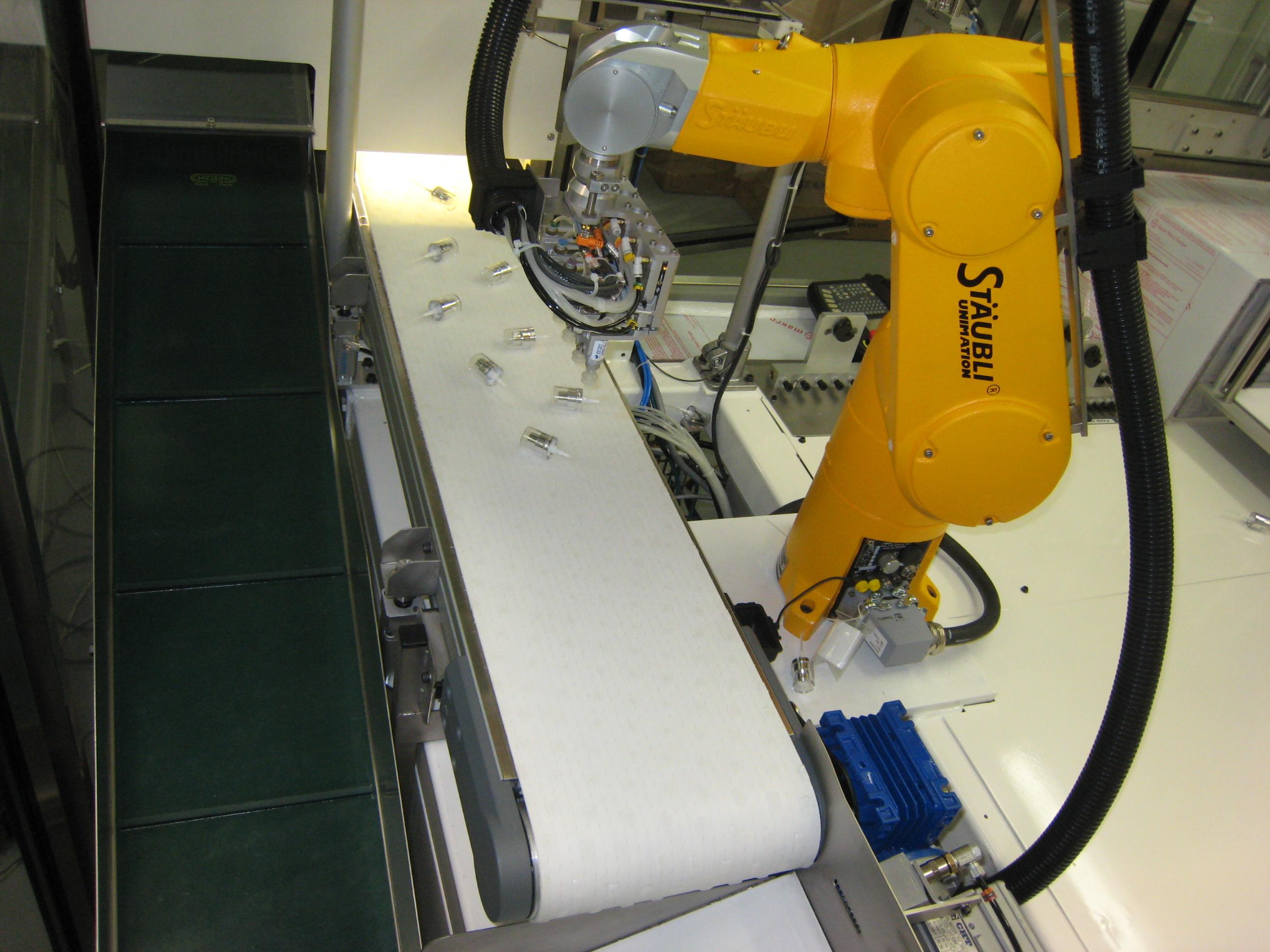 Robot industriel tracking et système de vision industrielle