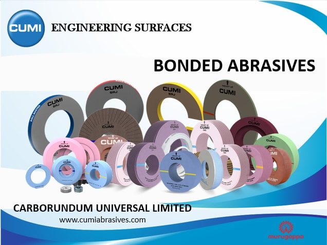 CUMI manufactures bonded abrasives of superior quality for various industries such as Aerospace,Gears, Auto OEM, Cutting