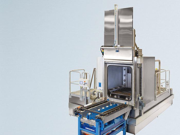 Ein- und Mehrstufen-Spritzkammer-Waschanlagen zur industriellen Reinigung und Entfettung von Werkzeugen und Teilen. WIWO