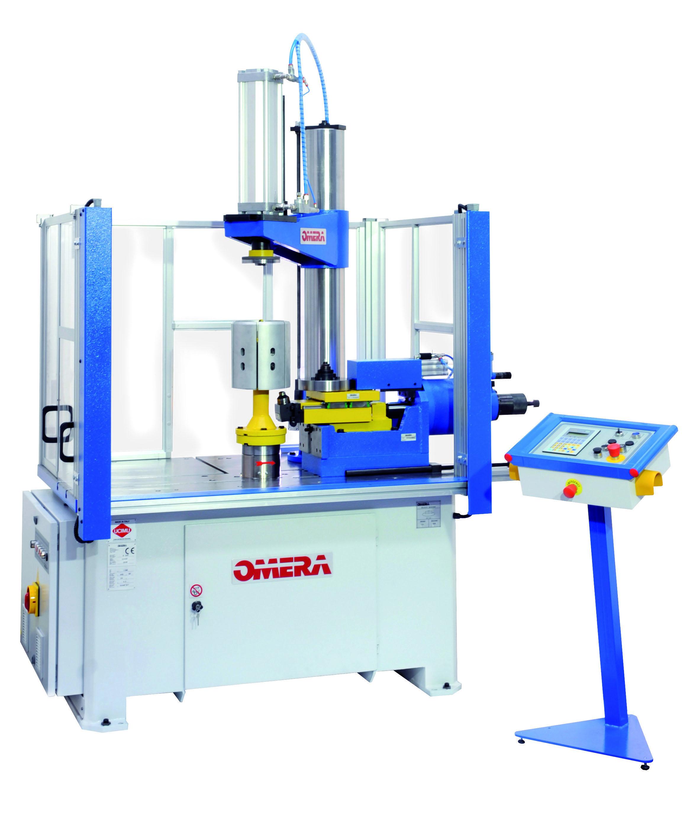 Omera es la empresa líder en el mundo en la fabricación de rebordonadoras y líneas de embutición y corte completas. S