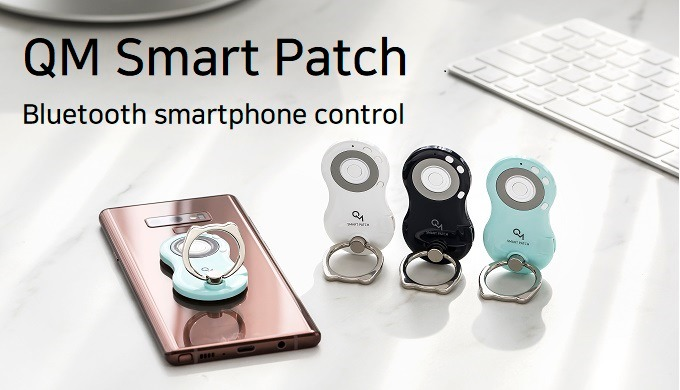 QM Smart Patch is the bluetooth control for smartphones and tablets like Galaxy S pen. The Product can be attached on th