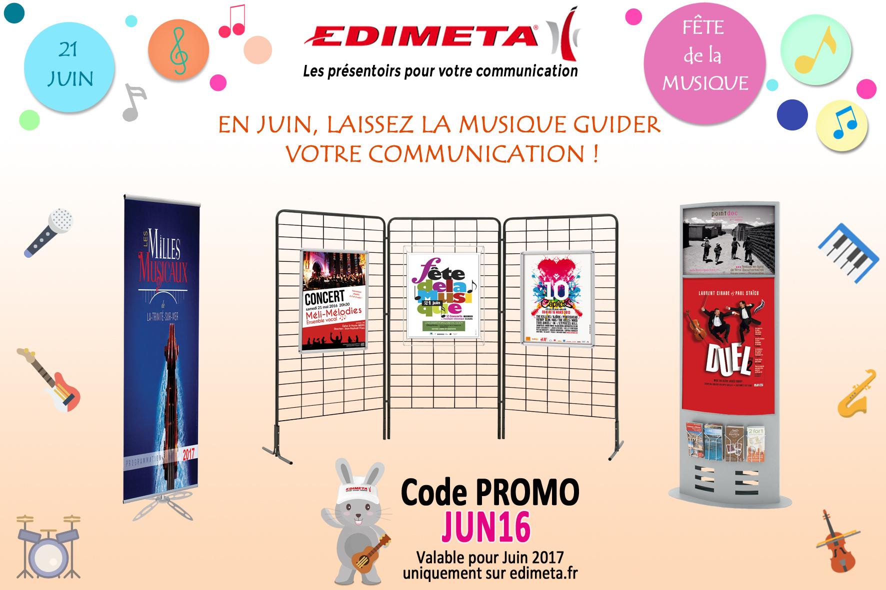 EDIMETA - Code promo pour Juin 2017