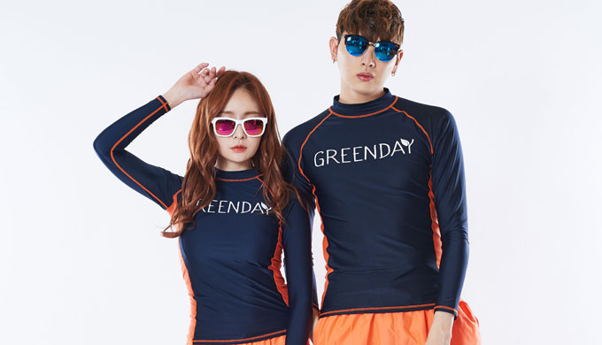 GREENDAY_UNIQUE RASHGUARD (ORANGE)