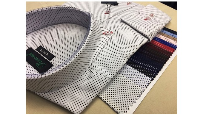 Production of printed men's shirts
