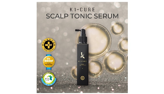 4. K1-CURE Scalp Tonic Serum [Anti- Hair loss Functional Shampoo Certified by KFDA] [Venture Innovative Governmental Ser