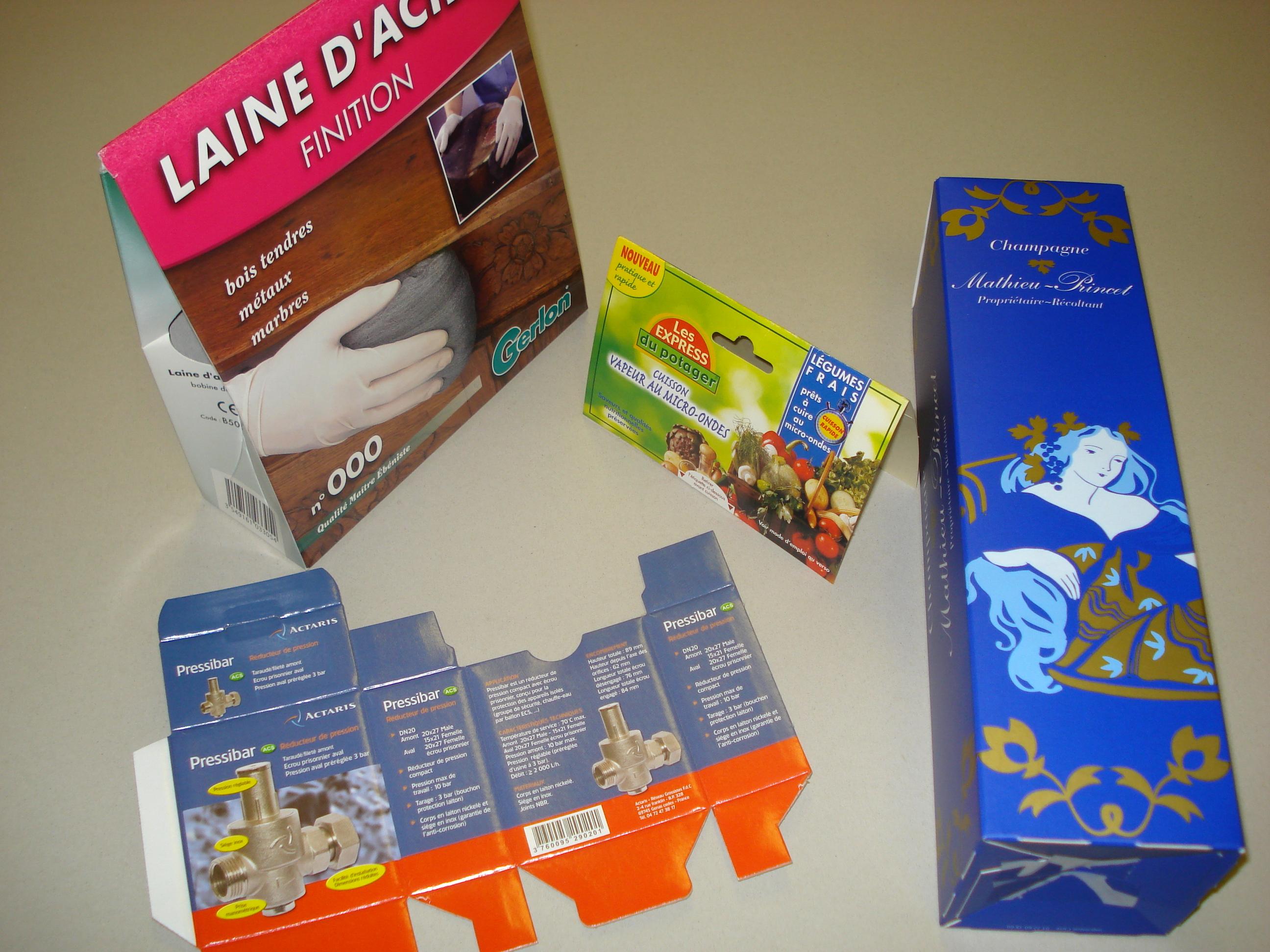 Emballage en carton et papier