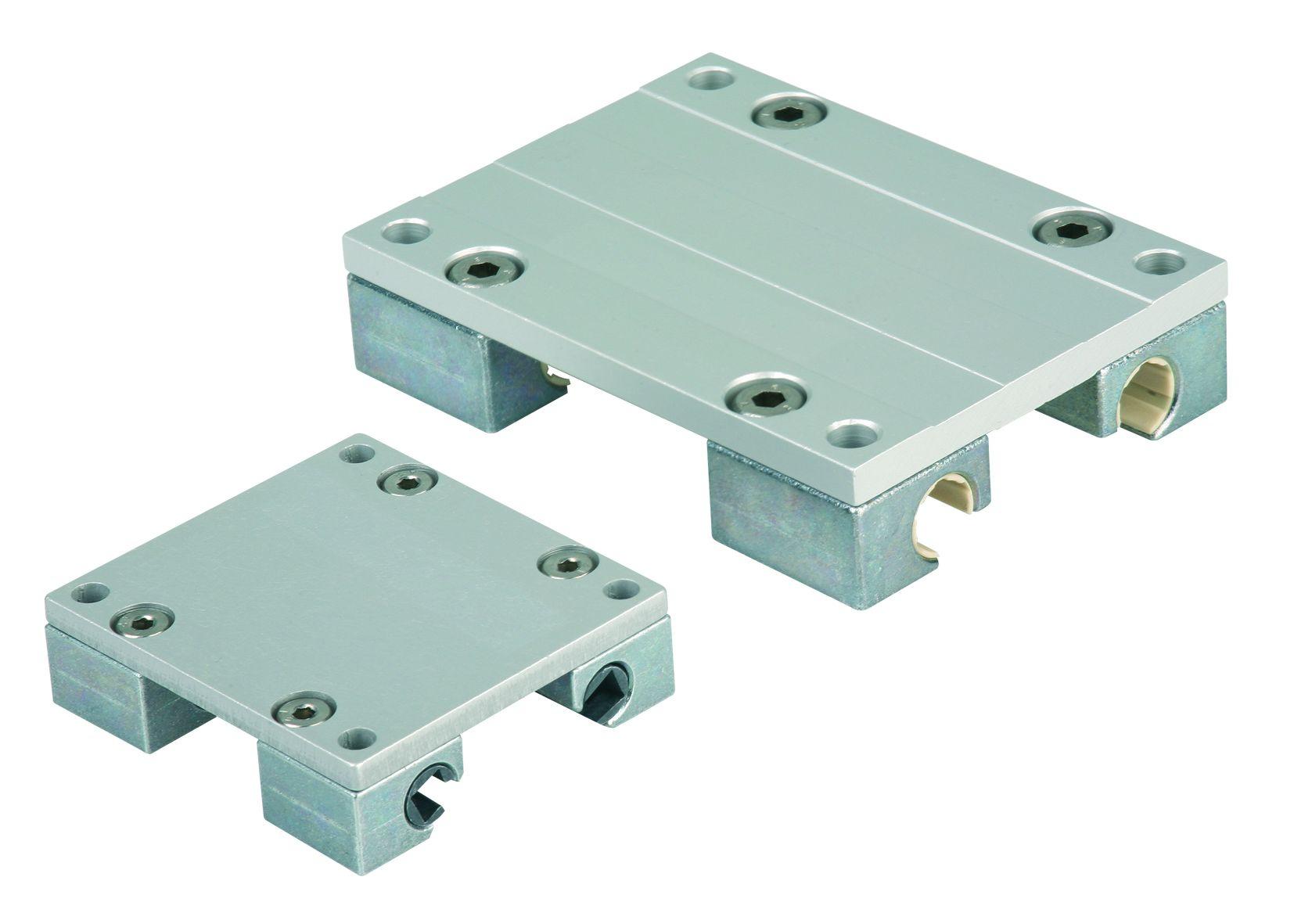 Werkstoff: Gleitwagen Zinkdruckguss. Montageplatte Aluminium. Gleitlagerwerkstoff aus iglidur® J. Ausführung: Gleitwagen