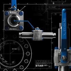 Différents modèles composent la gamme de robinets à boisseau flottant.Standard, Masterstar, Superstar, Splitstar, Mégast