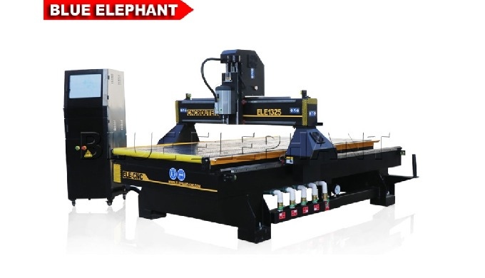 Features: 1. Like 1325 Wood Engraving CNC Router Machine, the machine was equipped with original Italy HSD spindle: powe