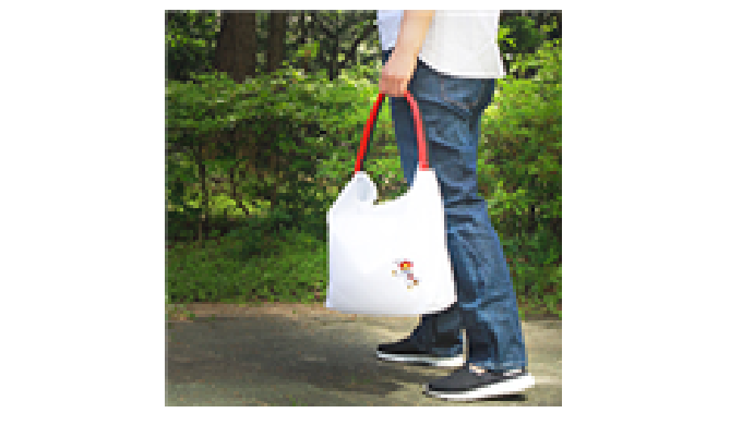The rolled-up Taekwondo belt transforms into a Ecobag when the belt is unfolded - The Taekwondo Ecobag is made from wate