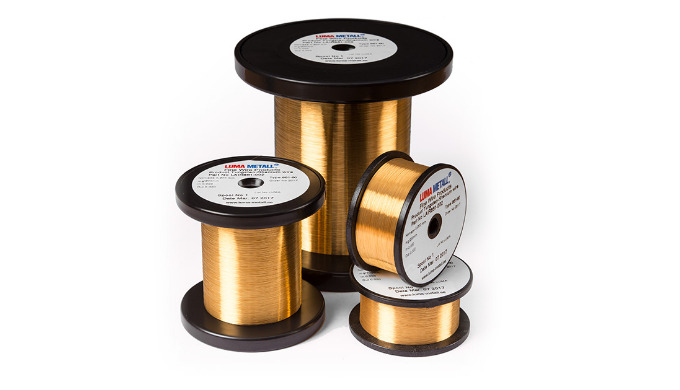 As for tungsten, also tungsten-rhenium is available as a gold coated wire to provide oxidation resistance and improved w